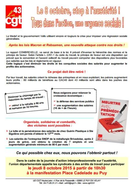 Tract cgt 43 8 octobre 2015 vs