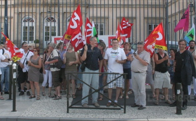 le puy manifestation soutien peuple grec 030715 photo christophe teyssier